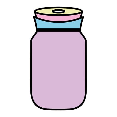 Color transparent crystal bottle object design Ilustracja
