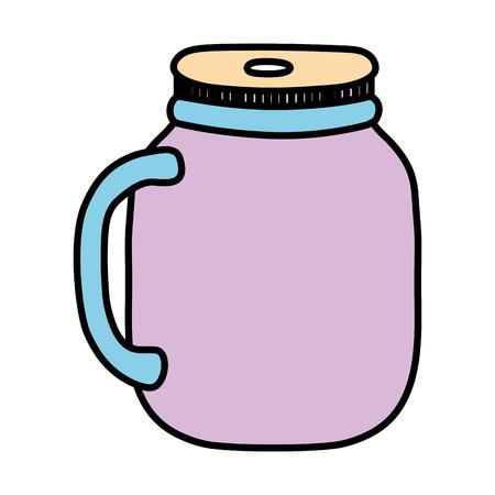 Color crystal bottle transparent preserve object Ilustracja