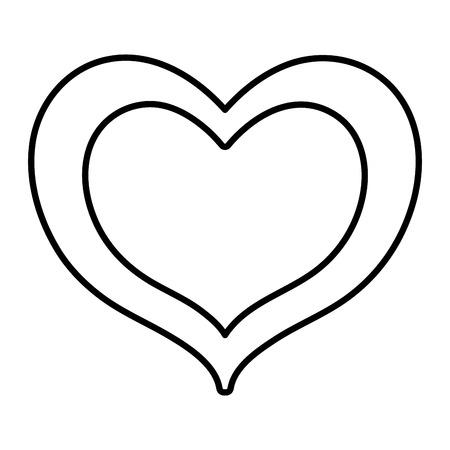 Line illustration of double heart design. Ilustrace