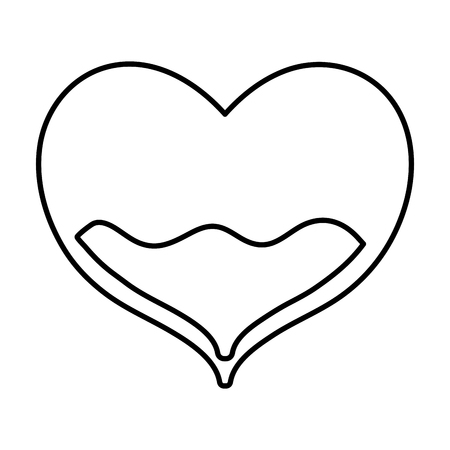 Line illustration of heart with blood inside for donation treatment event.