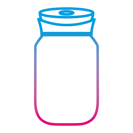 degraded line transparent crystal bottle object design vector illustration
