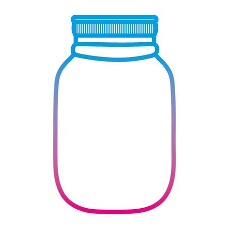 degraded line fragile glass bottle preserve object vector illustration Ilustracja