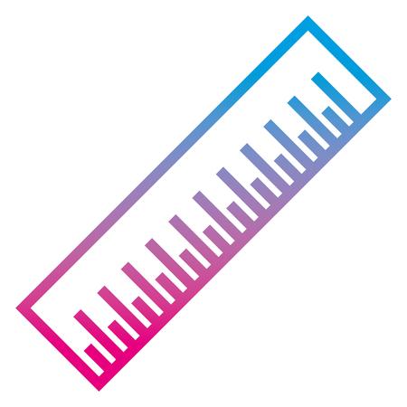 degraded line precision centimeter measurenment object design vector illustration Banque d'images - 100161026