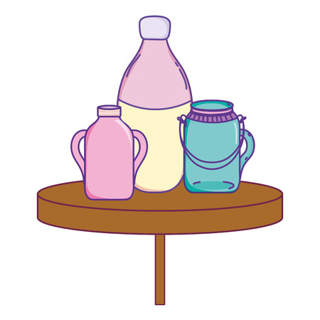 preserve mason glass jar in the table vector illustration Illustration