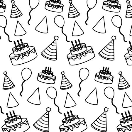 line birthday party celebration event background vector illustration 矢量图像