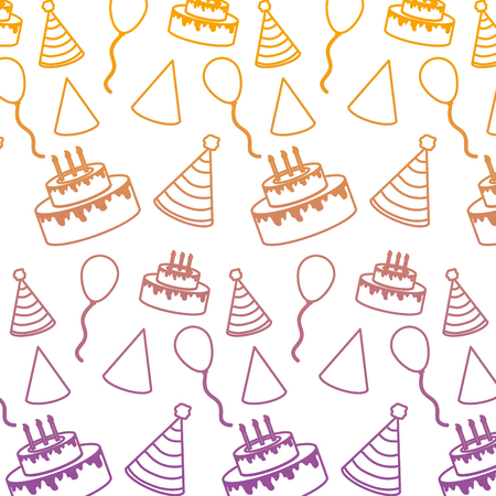 degraded line birthday party celebration event background vector illustration