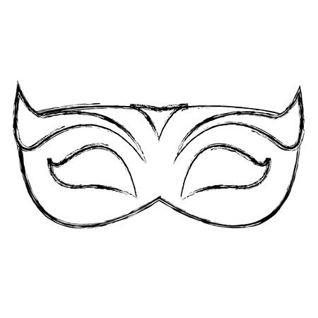 grunge party mask to celebration holiday event vector illustration