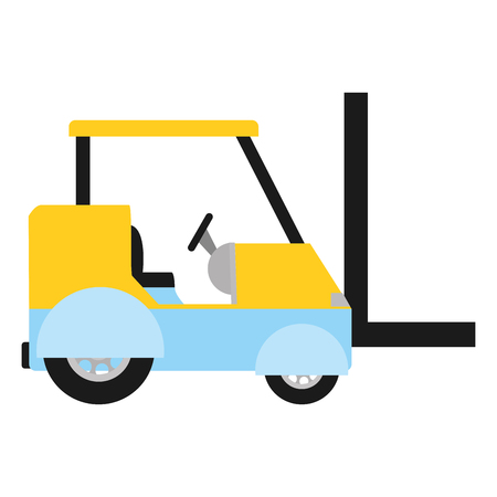 industrial forklift shipping cargo transportation Illustration