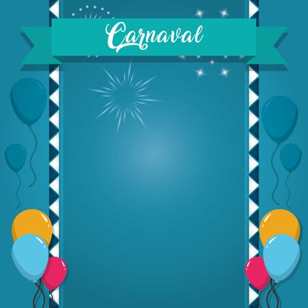 Happy carnaval card Illusztráció