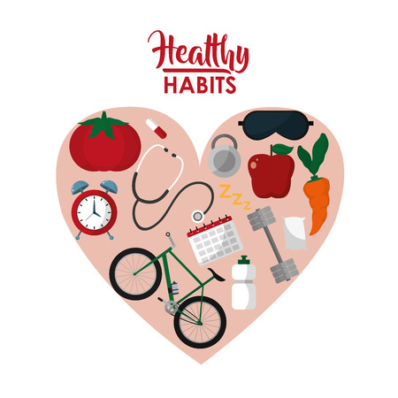 Healthy habits lifestyle concept