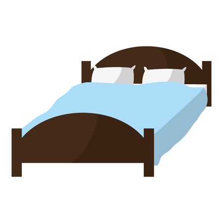 comfortable bed icon vector illustration