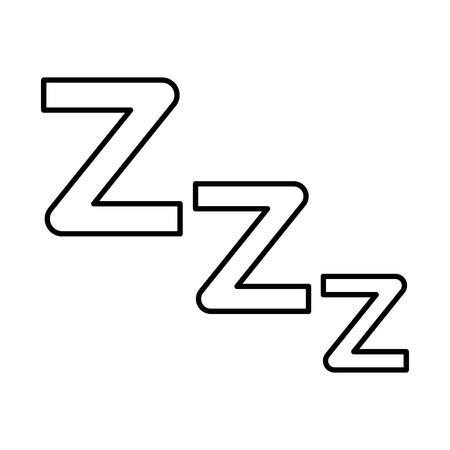 Line zzz sleep symbol to night rest