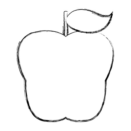 Grunge delicious organic apple fresh fruit.