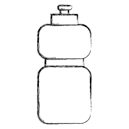 grunge water beverage in the plastic bottle to drink vector illustration Çizim