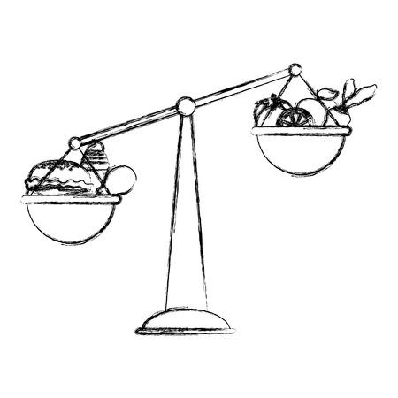 Grunge scale balance