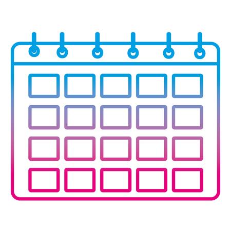 Degraded line calendar event