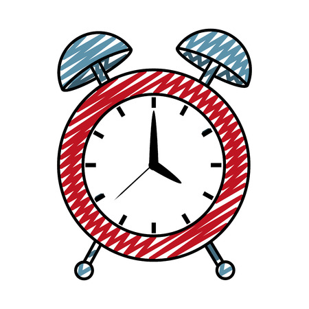 Doodle circle desk clock object design Vectores