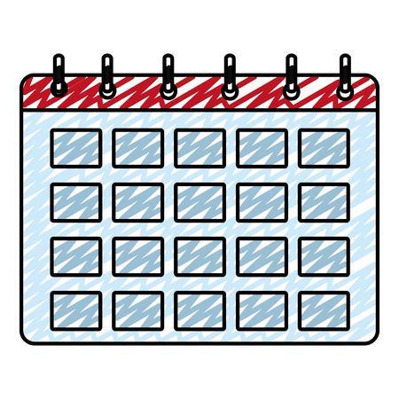 Doodle calendar event 矢量图像
