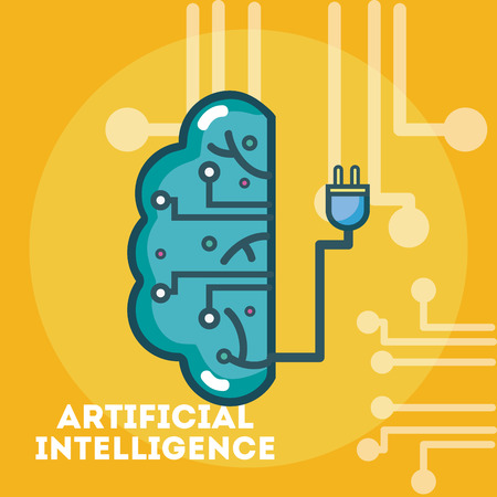 Artificial intelligence concept cartoons template vector illustration Vectores