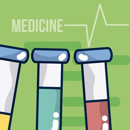 Medicine equipment cartoons vector illustration