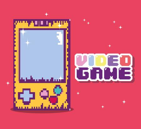 Retro videogame console vector illustration