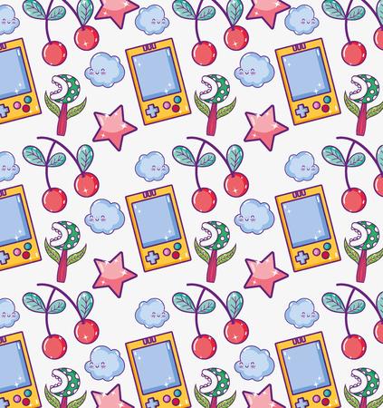 Videogame cartoons pattern background