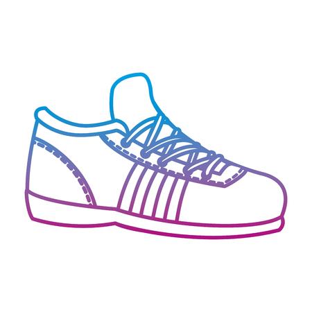 Degraded line sport sneakers training exercise athlete