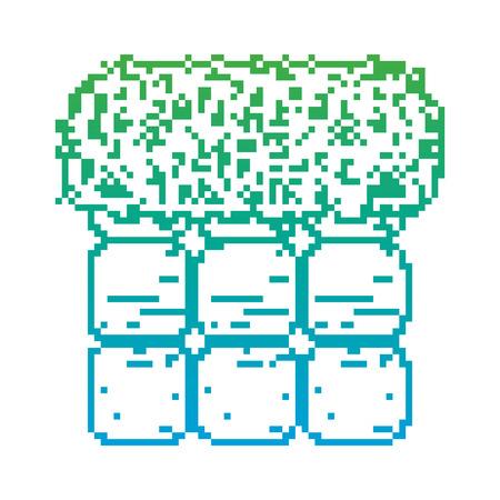 degraded line graphic pixel wall videogame scene Standard-Bild - 100838936