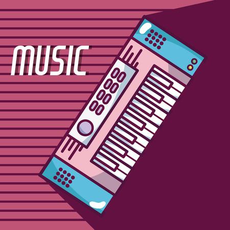 Modern keyboard modern music equipment Ilustração