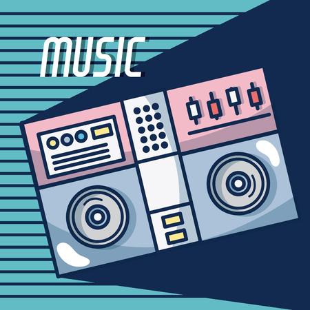 Dj turntable modern music equipment