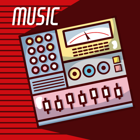 Electronic equalizer modern music equipment