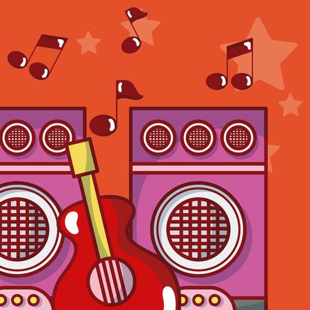 Moderm music equipment Ilustração