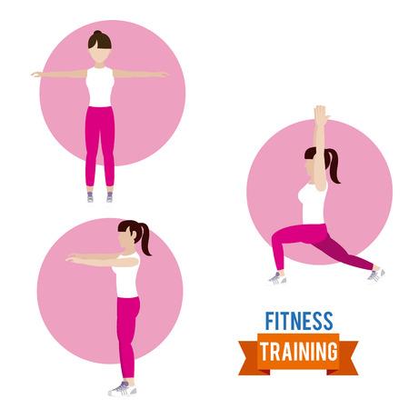 Woman fitness training Ilustrace