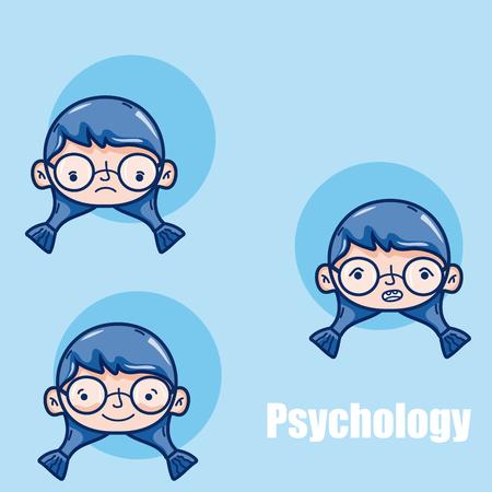 Psychology for girl kid cartoon vector illustration graphic design