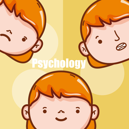 Childrens psychology cartoons Vectores