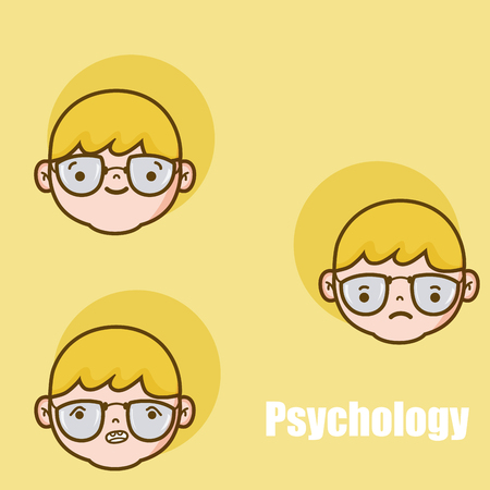 Psychology for boy cartoons vector illustration graphic design  イラスト・ベクター素材