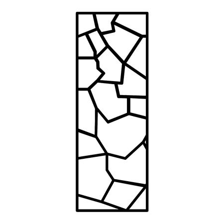 Line wall texture stone block architecture vector illustration