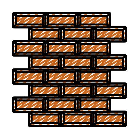 doodle wall structure brick block texture