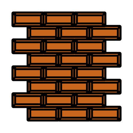 color wall structure brick block texture Illustration