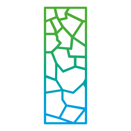 Degraded line wall texture stone block architecture vector illustration 向量圖像