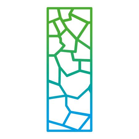 Degraded line wall texture stone block architecture vector illustration Illustration