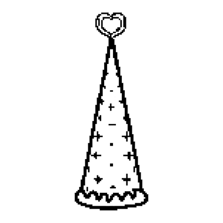 line fairy hat fashion accesory design vector illustration
