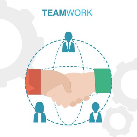 Business handshake teamwork concept vector illustration graphic design vector illustration graphic design Illustration