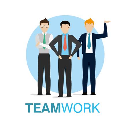 Businessmens working together vector illustration graphic design