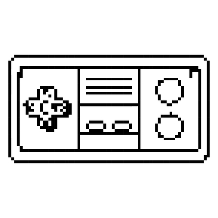 line simulator videogame console buttons technology vector illustration