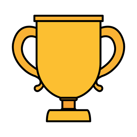 Color cup prize symbol of winner competition vector illustration