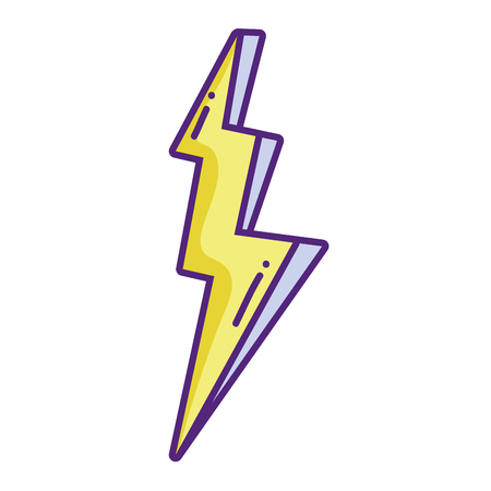 Thunder weather sign of power danger vector illustration