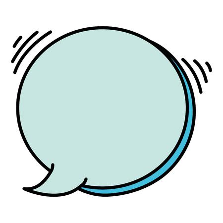 Chat bubble vector illustration