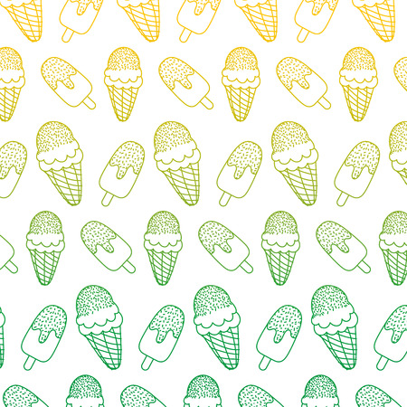 degraded line ice lollies and cream cone backgroud