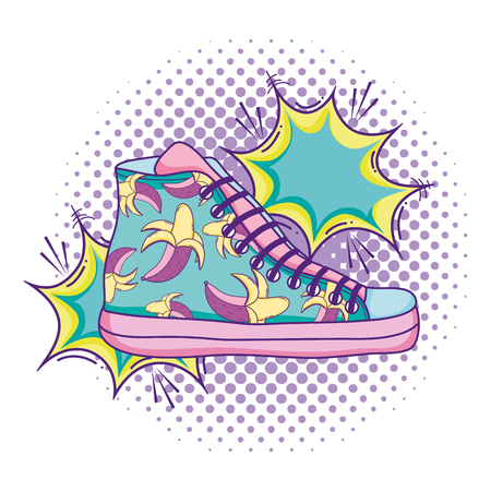 sneakers shoes with fashion pop art